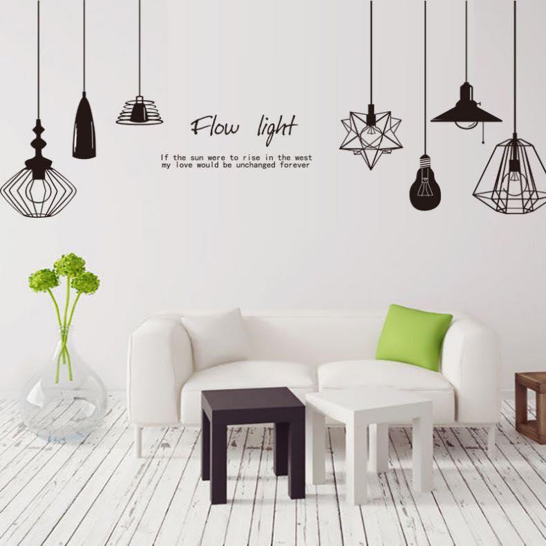Decal dán tường chùm đèn flow light - HP73