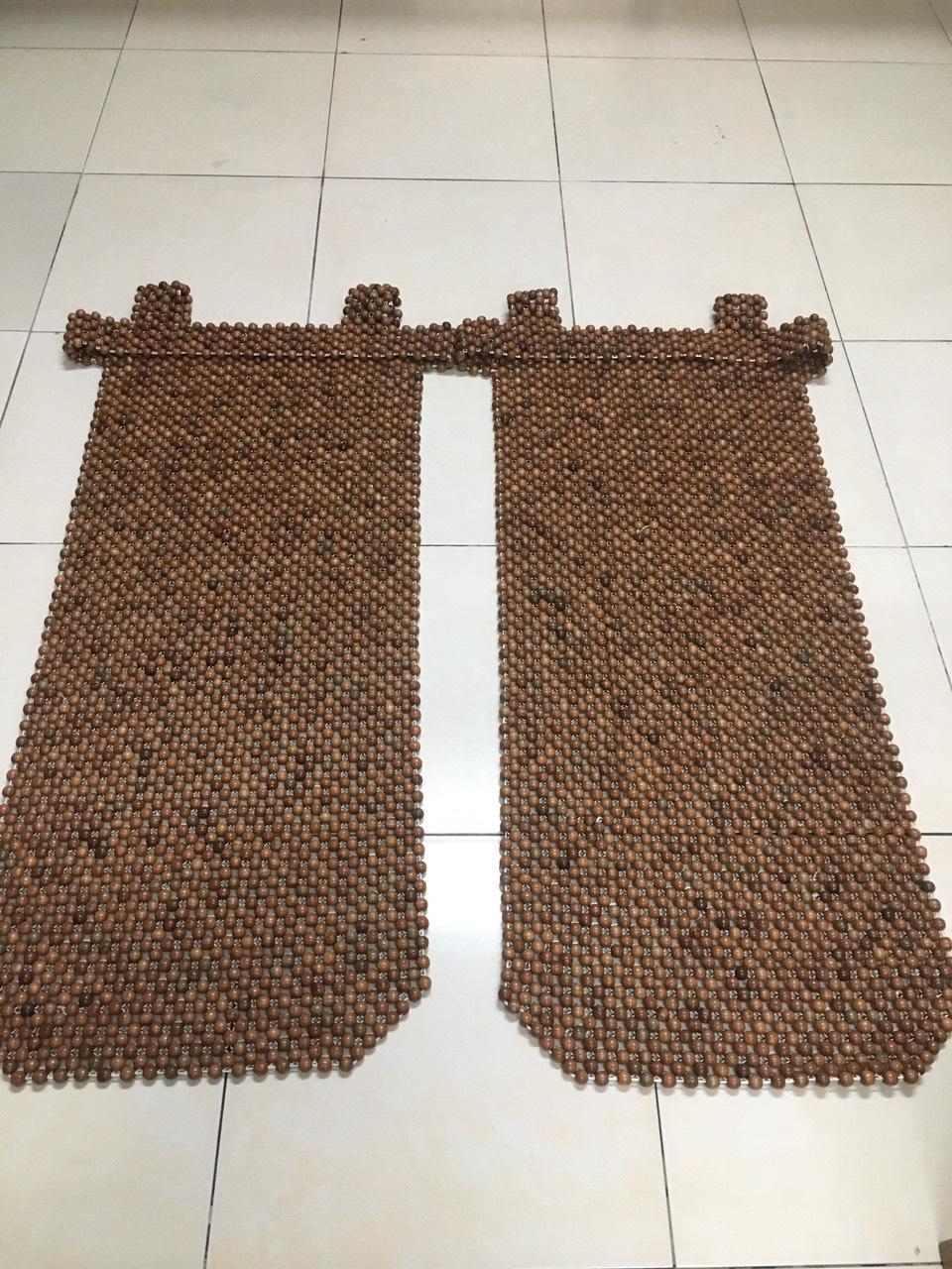 Combo 2 Lót ghế ô tô hạt gỗ hương mộc - Mẫu khoác vai hạt 12ly