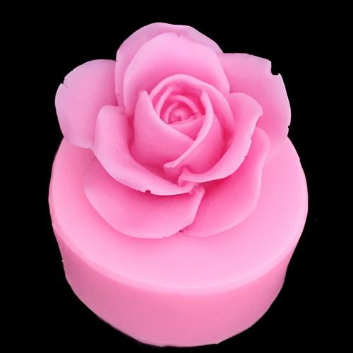 Khuôn rau câu silicon hoa hồng cánh bầu