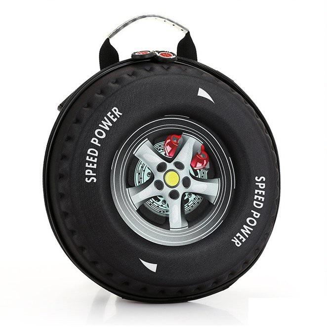 Cặp đi học in hình bánh xe cho bé trai và bé gái-Balo hình bánh xe 2 in 1 nhiều màu, chọn màu theo ý+ Tặng kèm hộp đựng bút cho bé, màu ngẫu nhiên