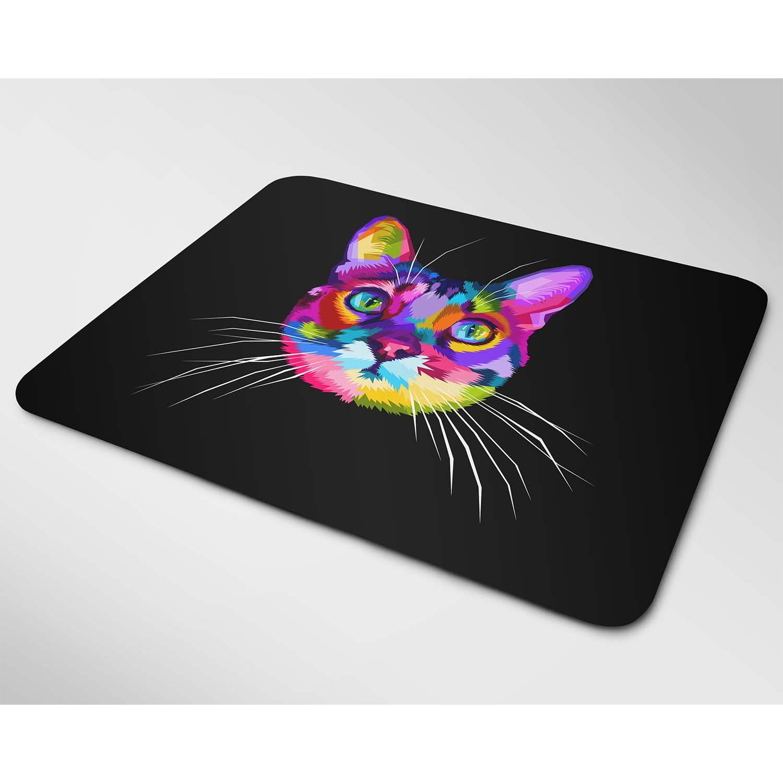 Miếng lót chuột đẹp mẫu Mèo sắc màu (Nhiều kích thước)