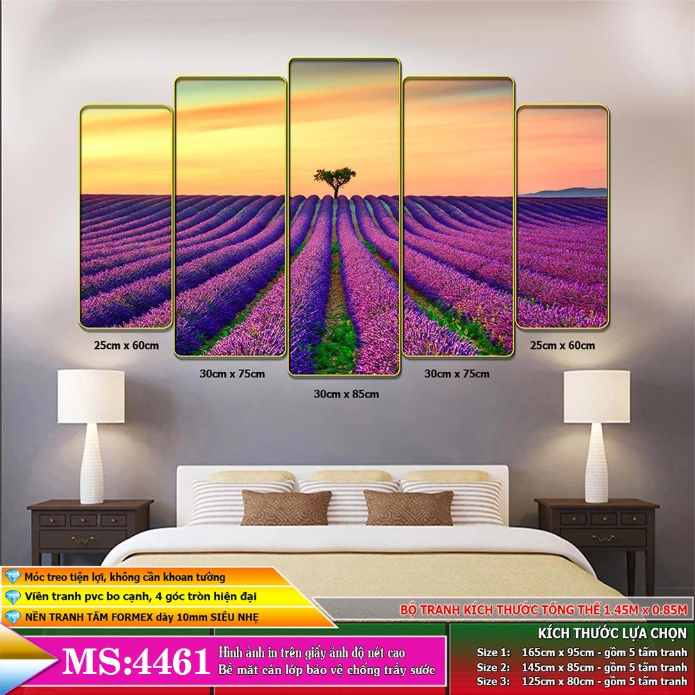 Tranh phong cảnh treo tường phòng khách, phòng ngủ, phòng ăn:4461L5F