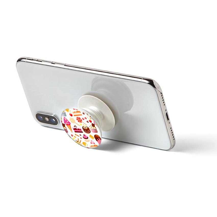 Gía đỡ điện thoại đa năng, tiện lợi - Popsockets - In hình CAKES - Hàng Chính Hãng