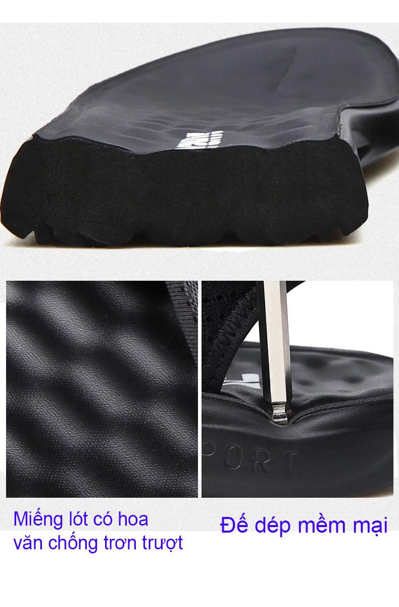 Giày Sandal nam đế mềm phiên bản Hàn Quốc ôm chân thoáng khí mã 58140 -8  - Đen - 42