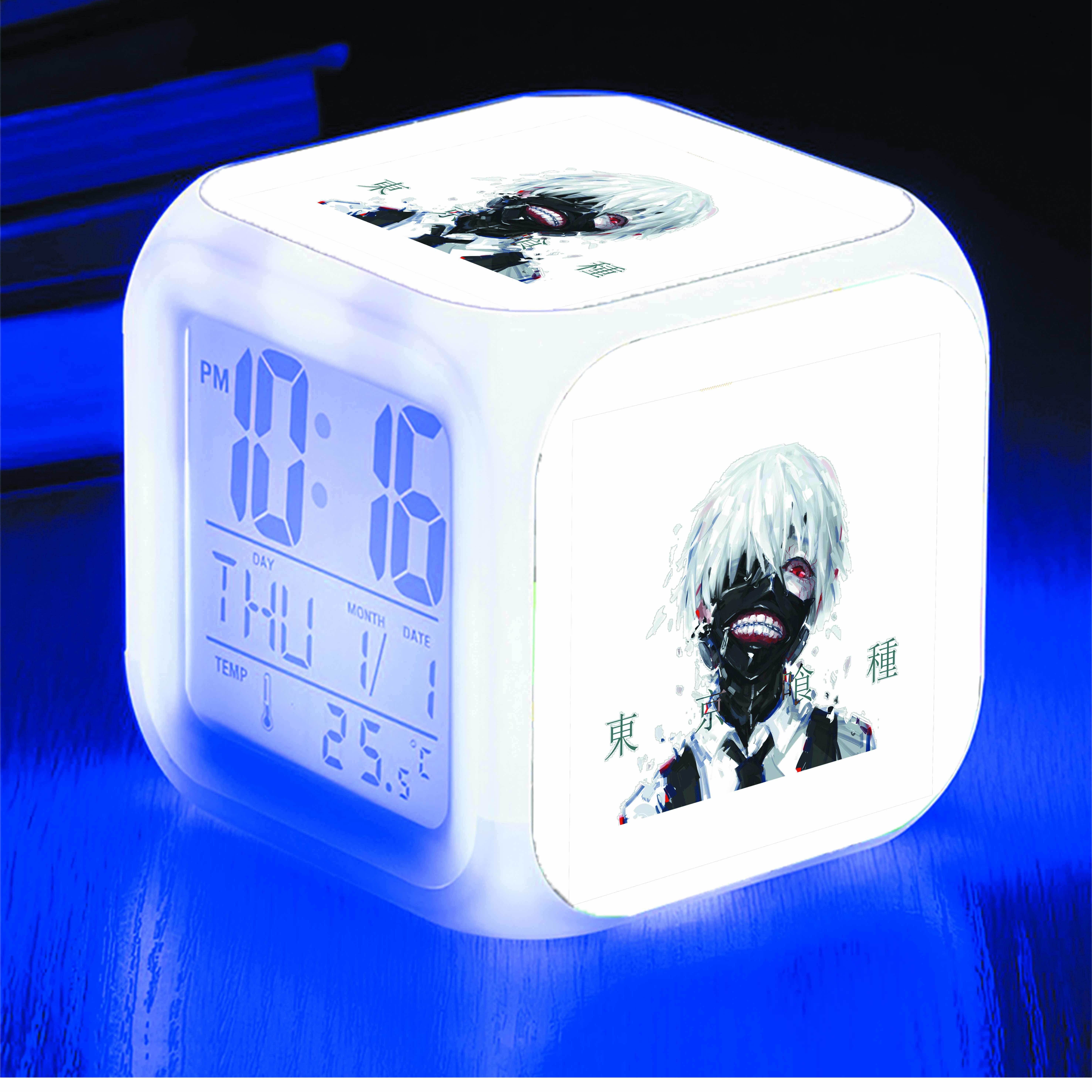 Đồng hồ báo thức để bàn IN HÌNH Kaneki Ken Ngạ Quỷ vùng Tokyo - Tokyo Ghoul anime