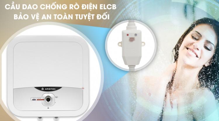 Cầu dao chống rò điện ELCB - Bình nóng lạnh Ariston AN2 RS 30 lít