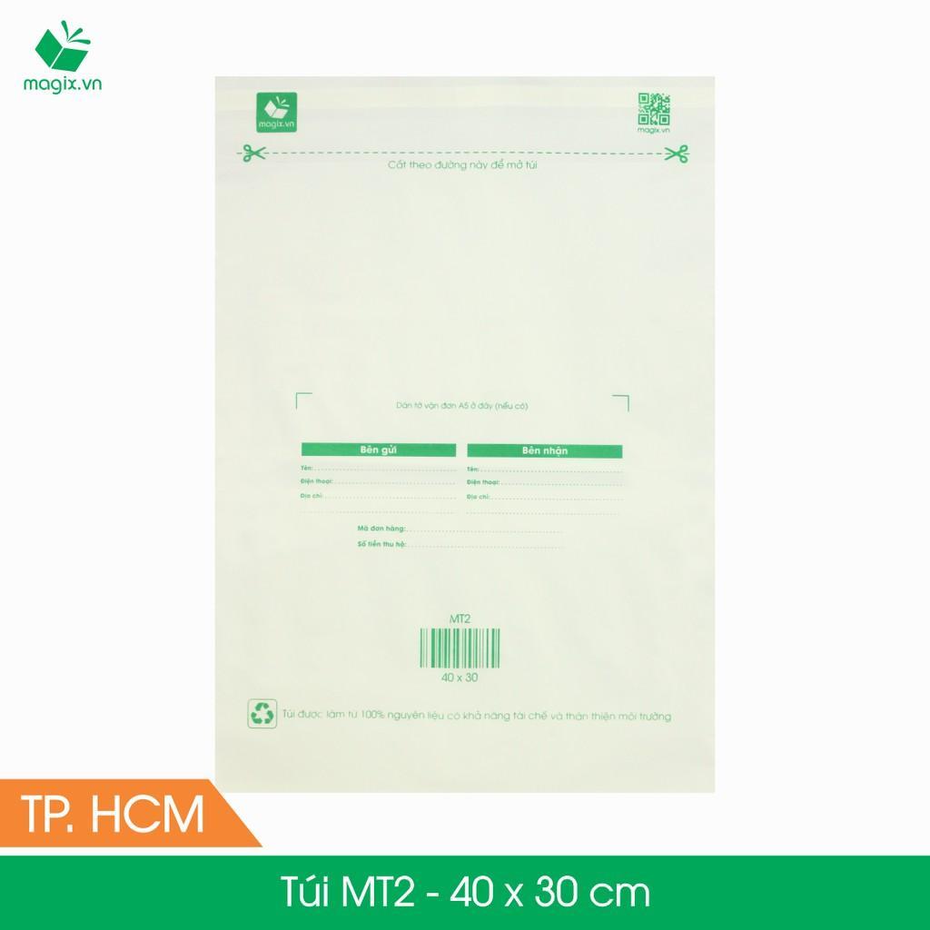 MT2 - 40x30 cm - 300 Túi nilon (tự phân hủy sinh học) đóng hàng