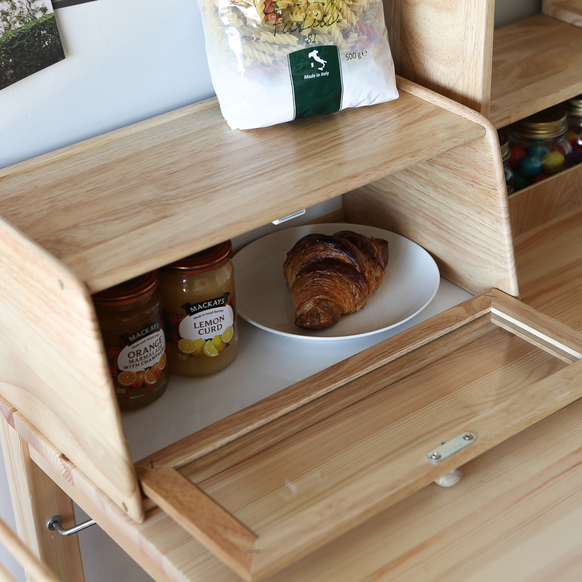 Hộp Để Gia Vị Đồ Dùng Nhà Bếp Bằng Gỗ A Bread Case Nội Thất Kiểu Hàn BEYOURs