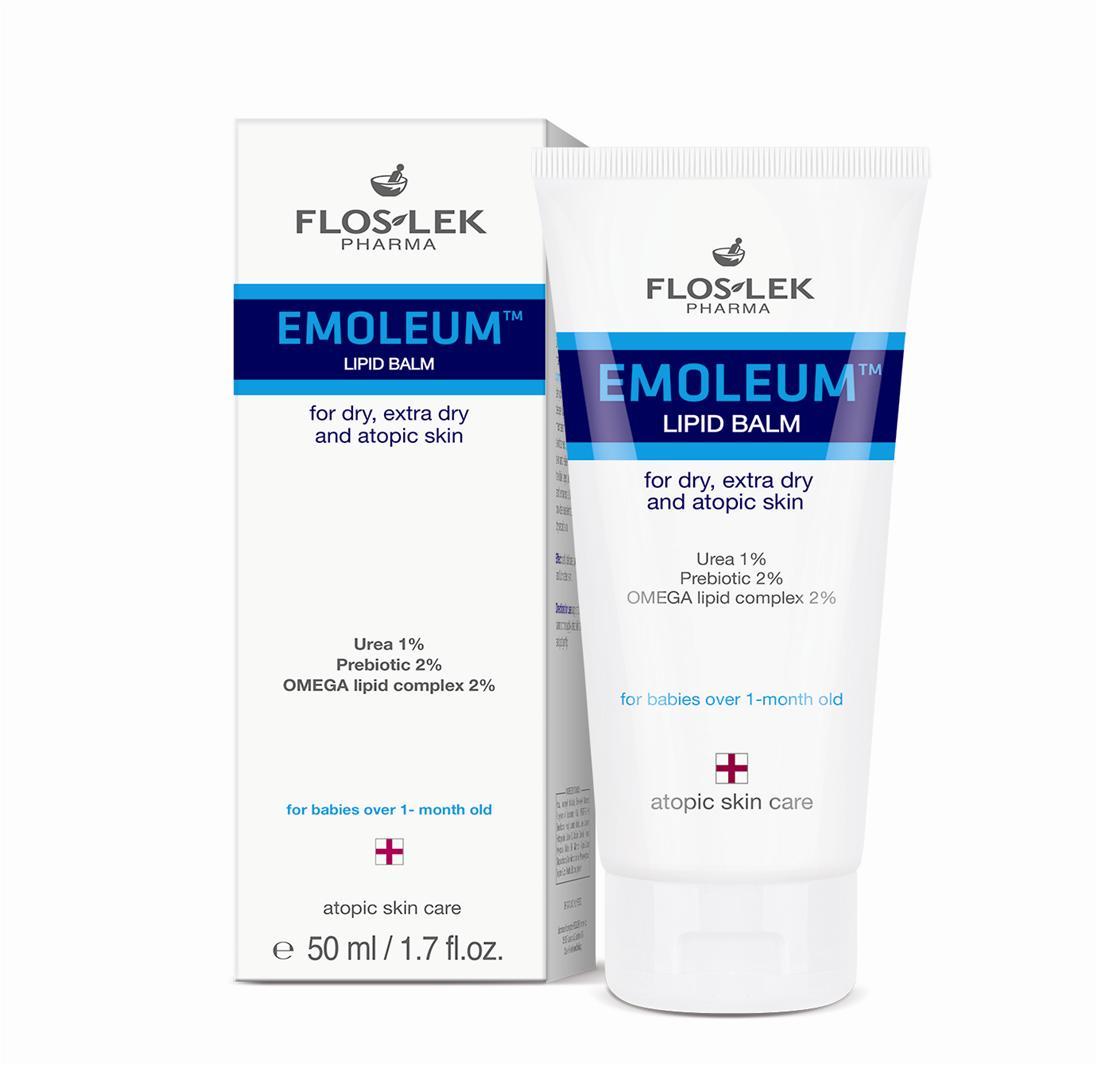 Floslek - bộ Gel tắm gội Atopic 150ml và kem dưỡng ẩm dành cho da khô, viêm da cơ địa Lipid Balm 50ml + tặng 1 mặt nạ Dermal bất kỳ