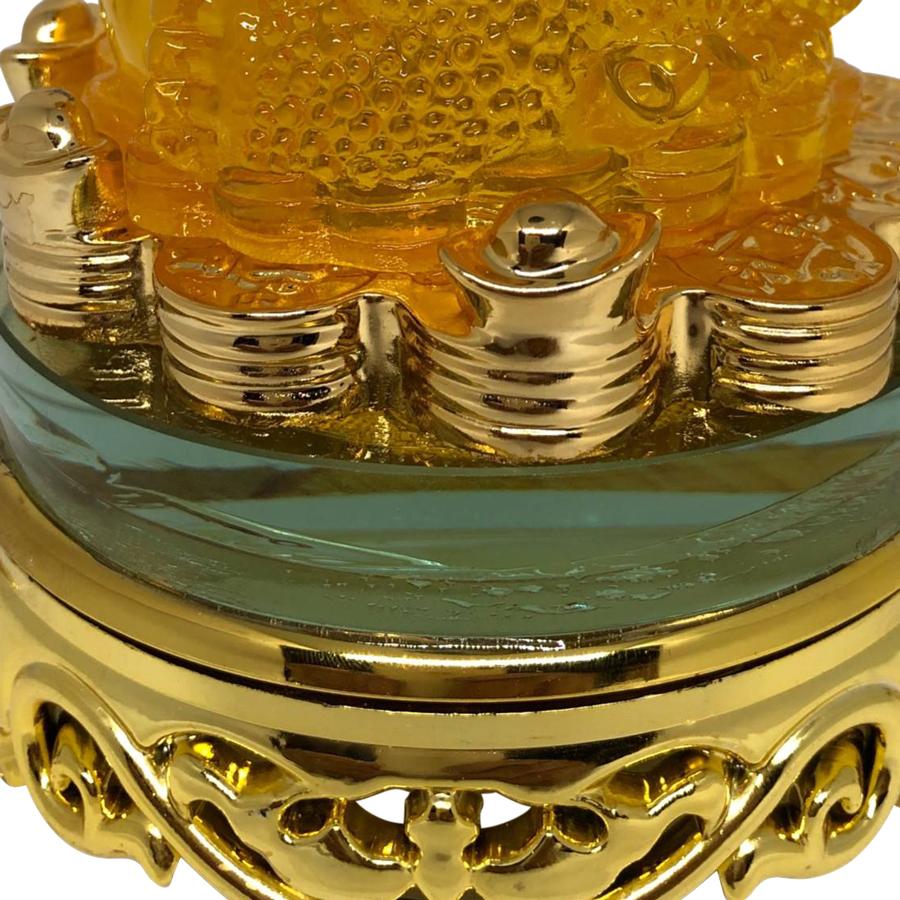 Cóc Xoay Đế Kiếng Cổng Bắp Cải PT0094 - Vàng