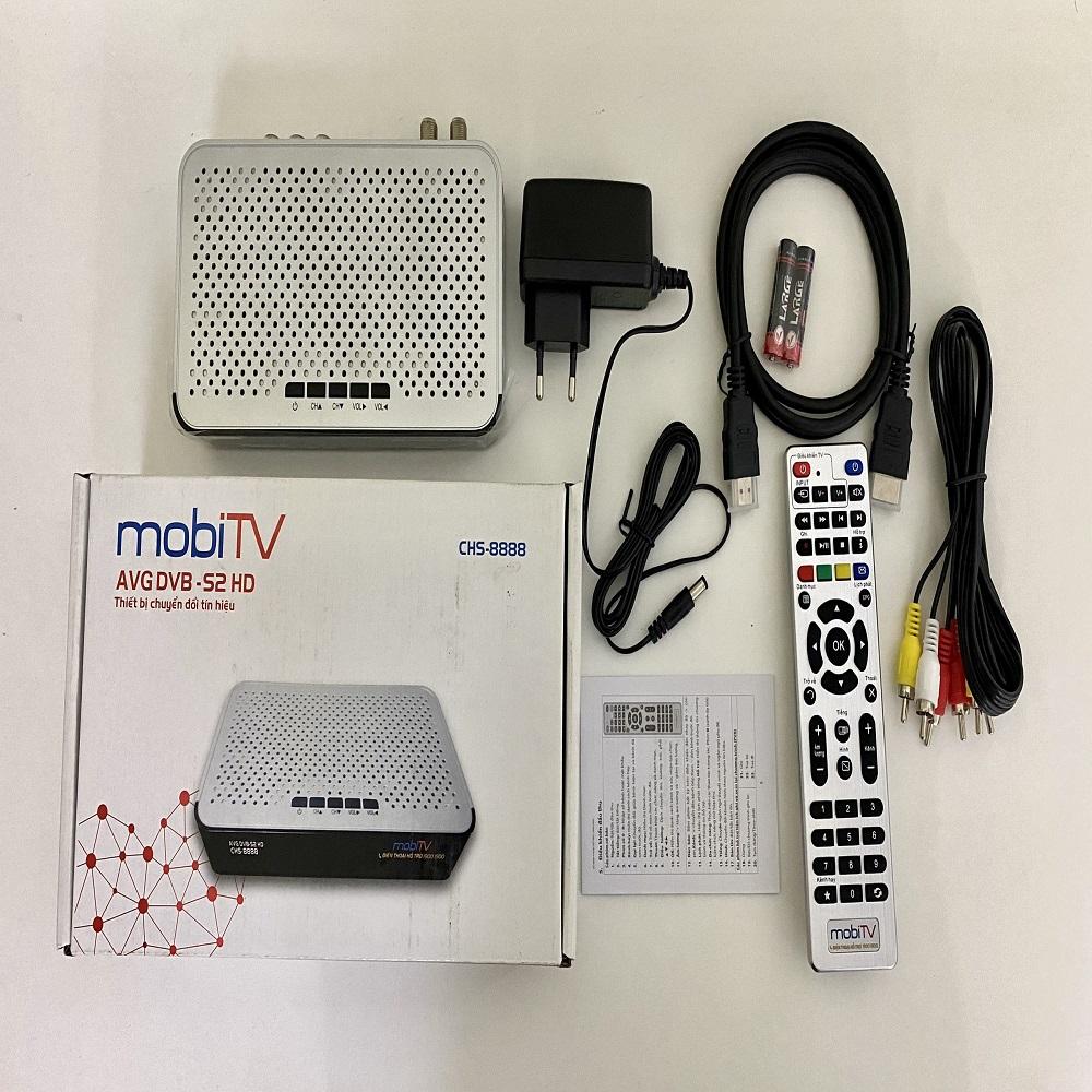 ĐẦU THU TRUYỀN HÌNH SỐ VỆ TINH DVB S2 MOBITV HÀNG CHÍNH HÃNG.