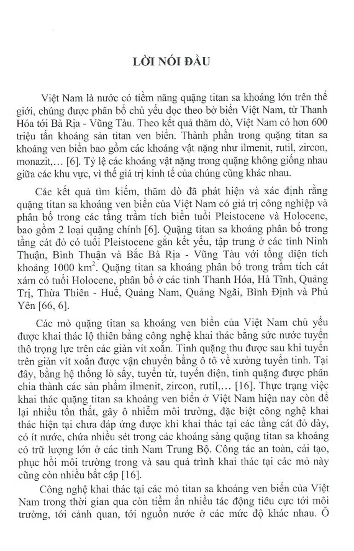 Công Nghệ Khai Thác Các Mỏ Quặng Titan Sa Khoáng Ven Biển Việt Nam