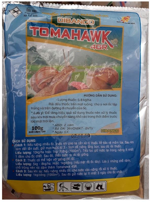 THUỐC TRỪ ỐC BƯƠU VÀNG TOMAHAWK 4GR (KLT: 100G)