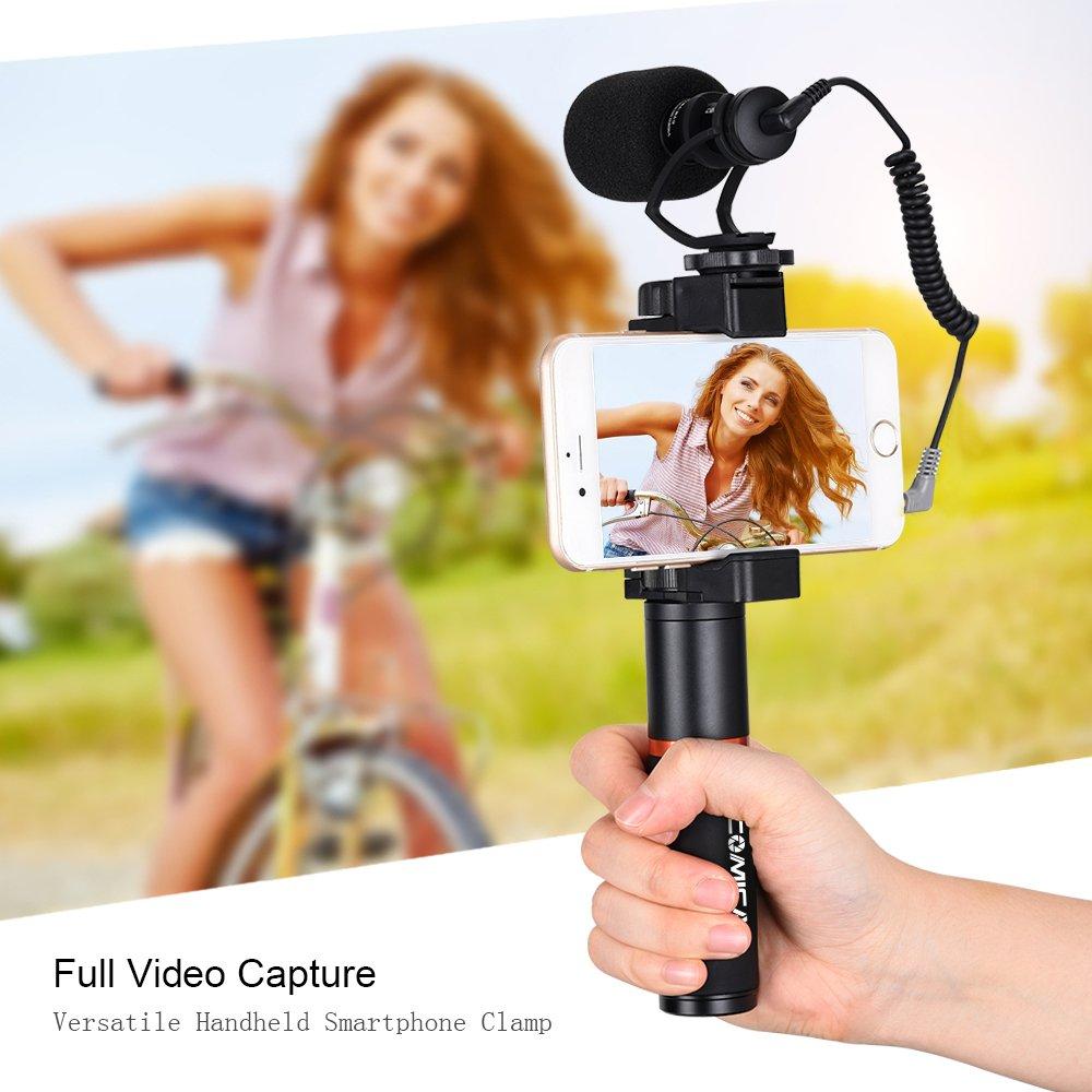 Bộ micro kèm tay cầm quay phim cho điện thoại Comica CVM-VM10-K1- Hàng Chính Hãng