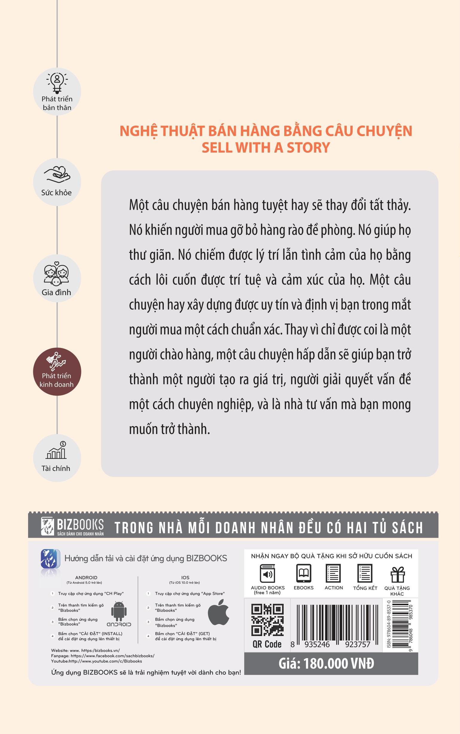 Nghệ Thuật Bán Hàng Bằng Câu Chuyện (Tặng kèm bookmark CR)
