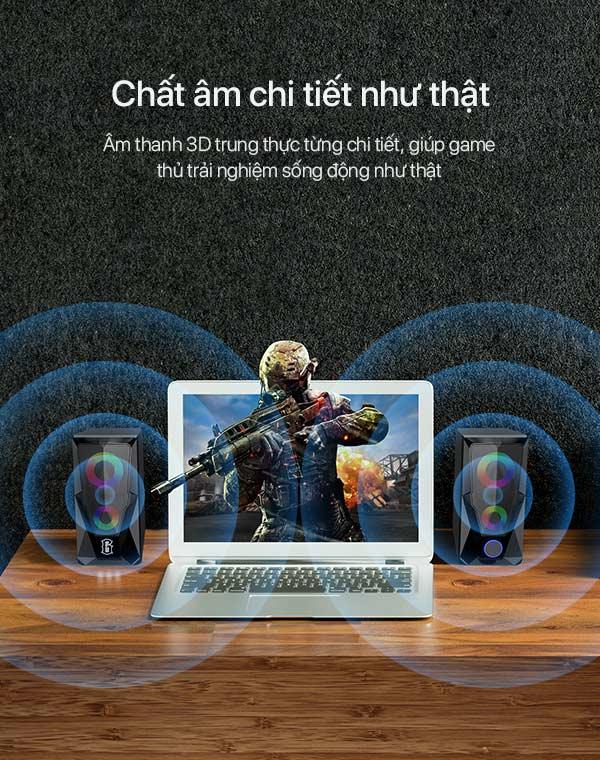 Loa Máy Tính Game Thủ - ROBOT RS200 - Hàng Chính Hãng