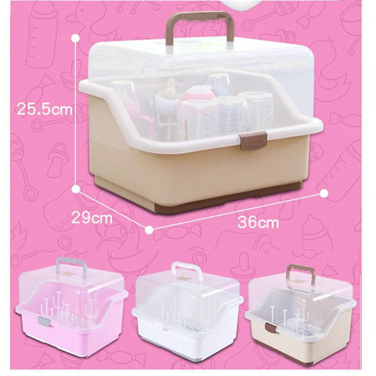 Giá úp bình sữa bằng nhựa PP an toàn, thiết kế nhỏ gọn, tiện lợi
