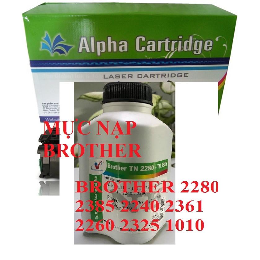 Mực nạp Brother hàng chính hãng Alphacartridge dành cho hộp mực TN 2280 2385 1010 Máy in HL1111/1511/2321/2340/2360/2361/2240/2280/2380 MFC1601/2701/2720/2740/7060/7360