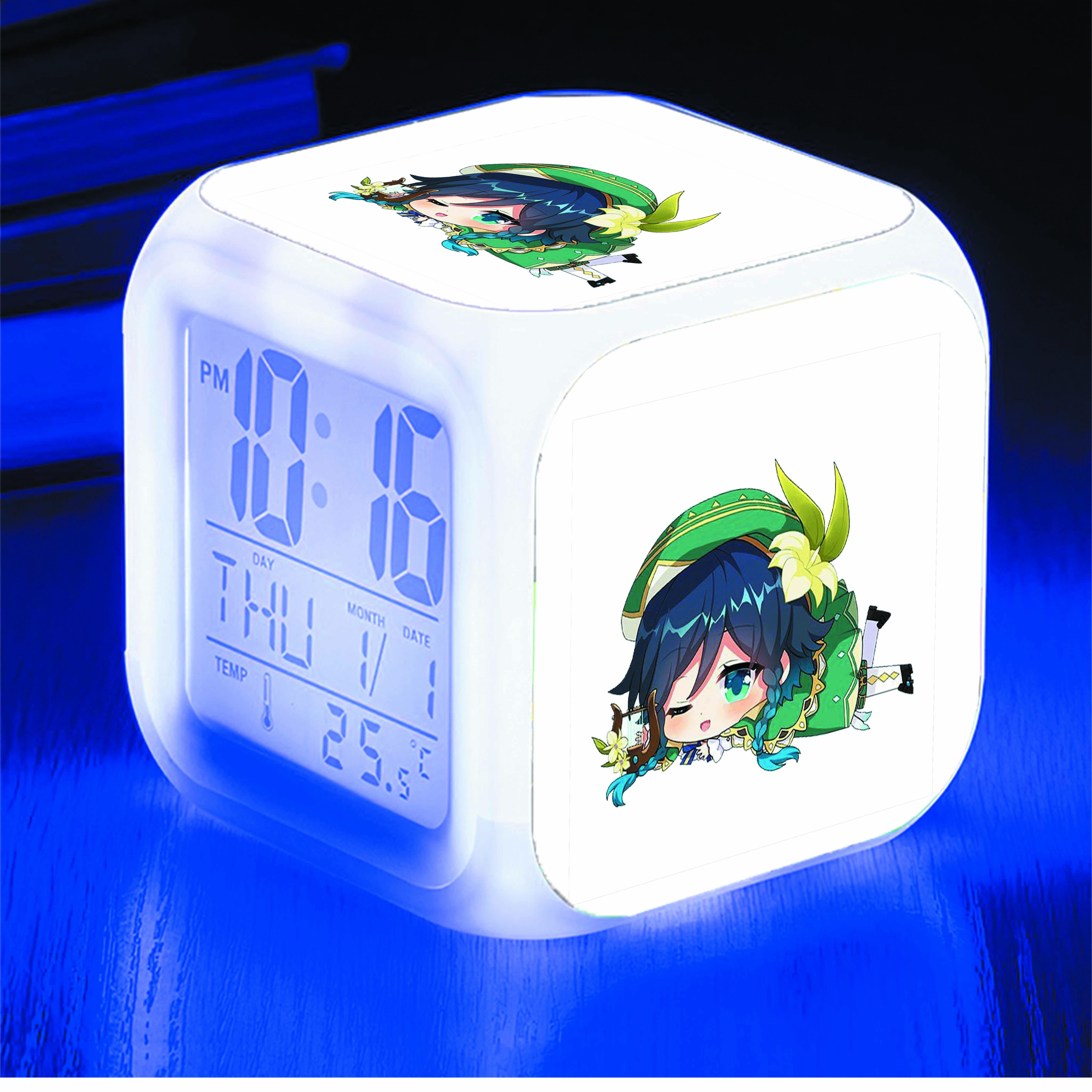 Đồng hồ báo thức để bàn IN HÌNH Genshin Impact game