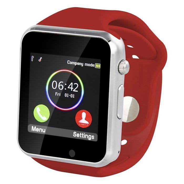 Đồng hồ thông minh Smart watch lắp sim nghe gọi A1 Màu Đỏ