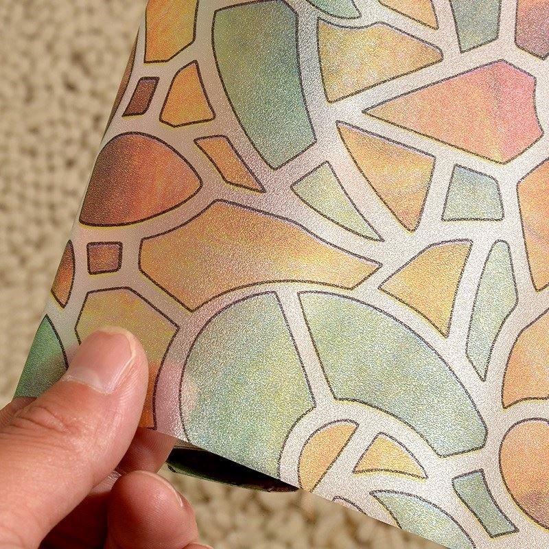 Decal dán kính 3D hoa lá sắc màu nghệ thuật
