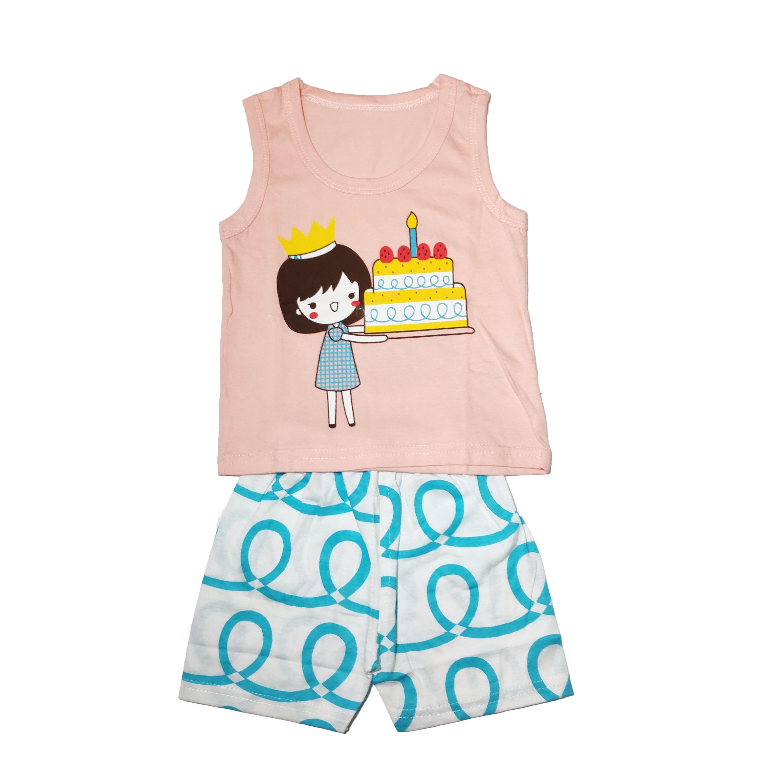 Combo 2 bộ cotton hàng xuất chất siêu đẹp cho bé gái ZIPPY-DB-002