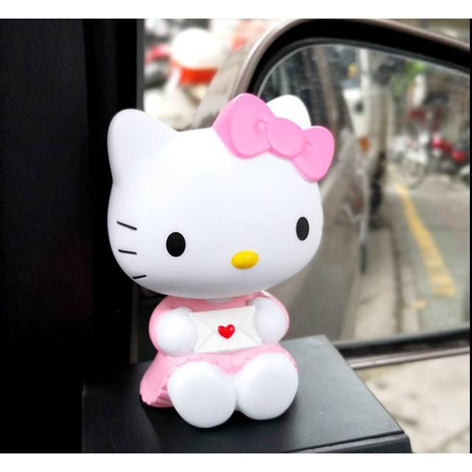 Tượng trang trí Hello Kitty lắc đầu 10cm (chọn hình)