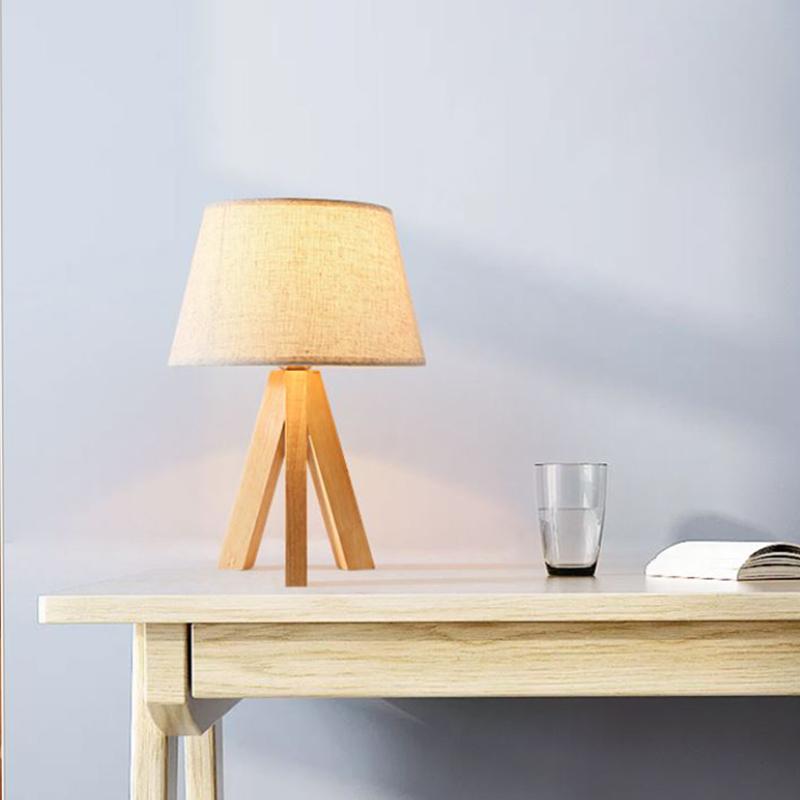 Đèn ngủ gỗ - đèn ngủ để bàn - đèn ngủ đầu giường LUKA cao cấp đã bao gồm bóng LED chuyên dụng