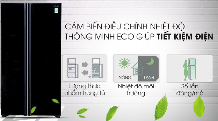 Cảm biến Eco hiện đại - Tủ lạnh Hitachi Inverter 605 lít R-S700PGV2 GBK