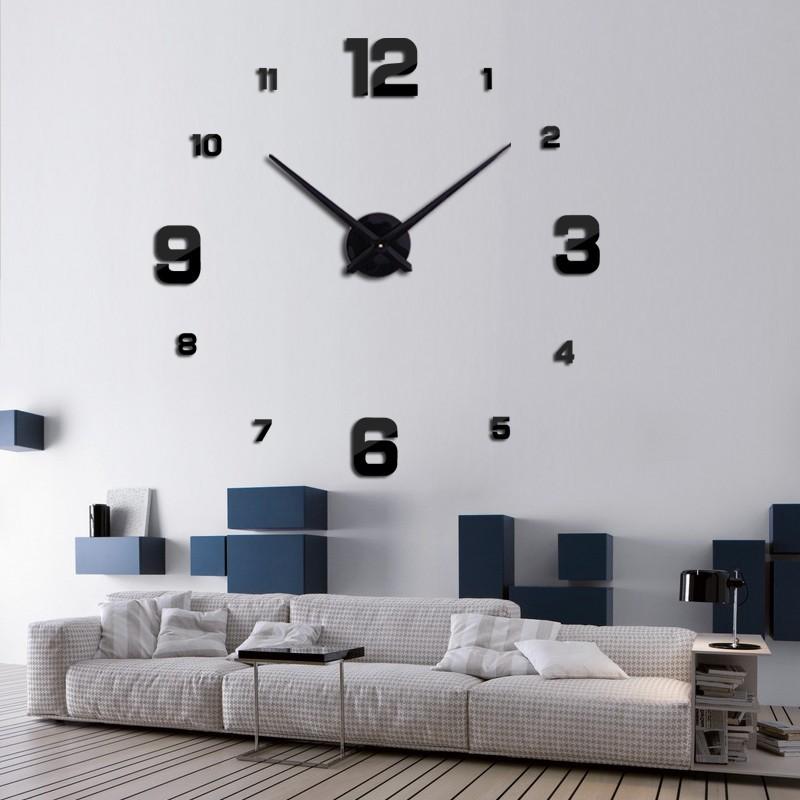 Đồng hồ trang trí treo tường 3D- gắn tường sáng tạo loại lớn DH04