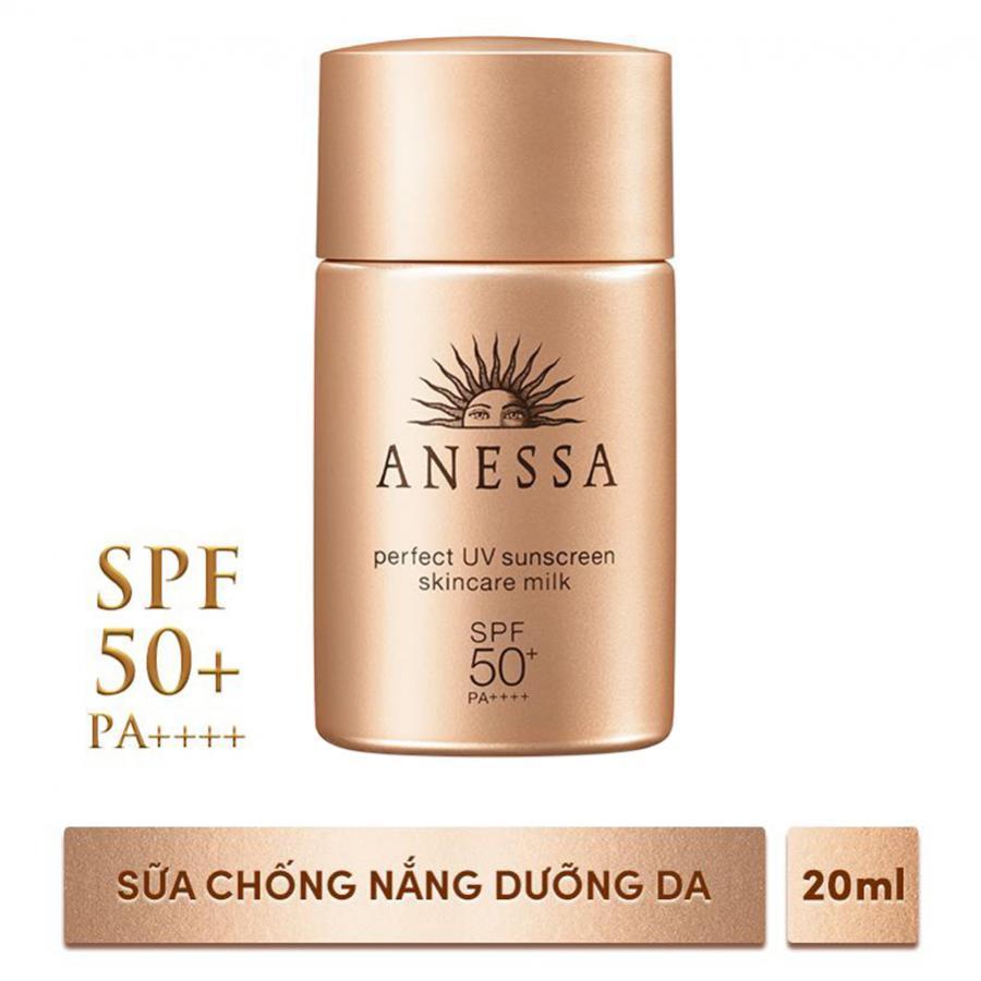 Bộ đôi sữa chống nắng bảo vệ hoàn hảo Anessa Perfect UV Sunscreen Skincare Milk 60ml & 20ml