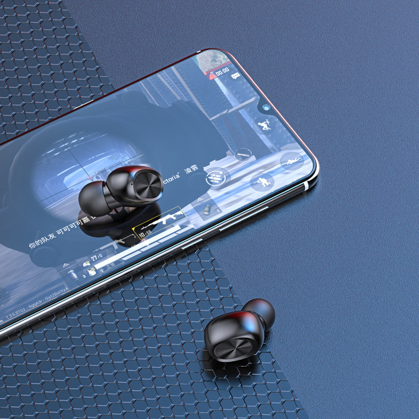 Tai Nghe Bluetooth Không Dây 5.0 Cảm Ứng Vân Tay B5 Mini Chống Thấm Nước 9D