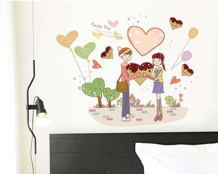 Decal dán tường tình yêu lãng mạn MJ7011