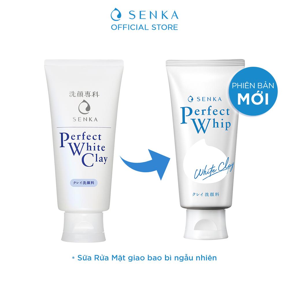 Hình ảnh Combo Sữa tắm dưỡng ẩm Senka Perfect Whip hương hoa hồng, đinh hương 500ml và Sữa rửa mặt chiết xuất đất sét trắng Senka Perfect Whip Clay 120g