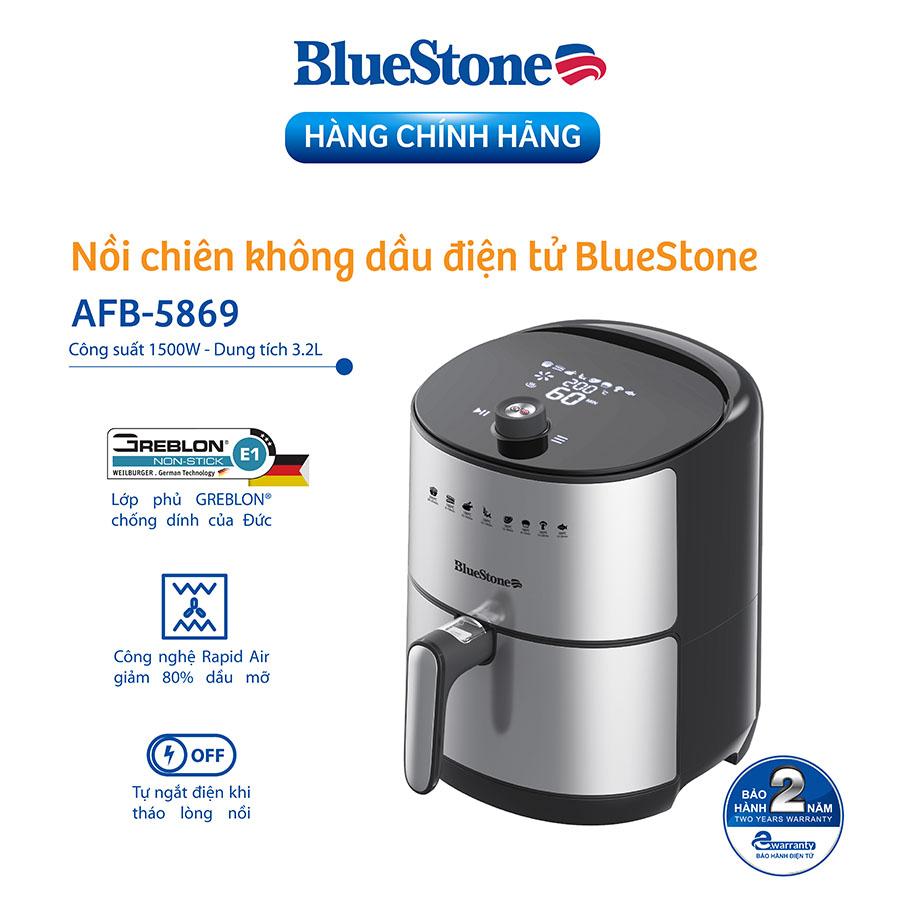 Nồi Chiên Không Dầu Điện Tử BlueStone AFB-5869 (3,2 Lít) - Hàng Chính Hãng