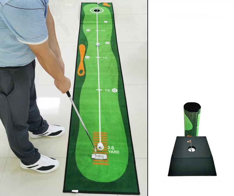 NEW 2021 - Loại 1 - Thảm tập Putt nâng cao cho người chơi Golf, cho nhiều bài tập góc và khoảng cách