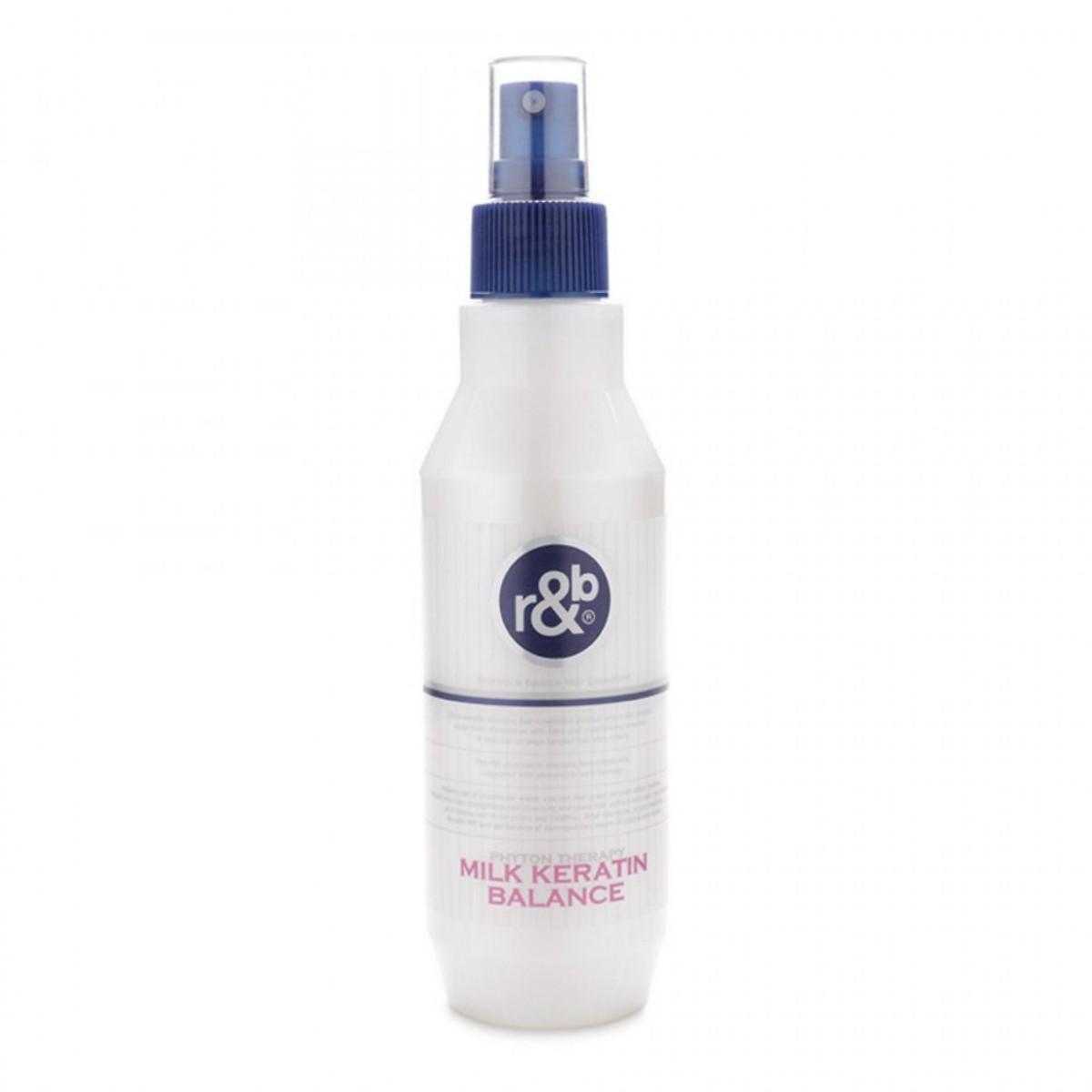 Combo Dầu gội bạc hà R&B Peppermint 1000ml -  Nước dưỡng tóc dưỡng ẩm phục hồi tóc hư tổn R&B Milk Keratin Balance 250ml