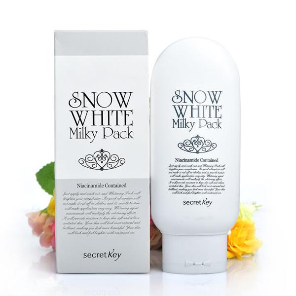 Kem Làm Trắng Mặt Và Toàn Thân Secret Key Snow White Milky Pack 200g |  Tiki.vn