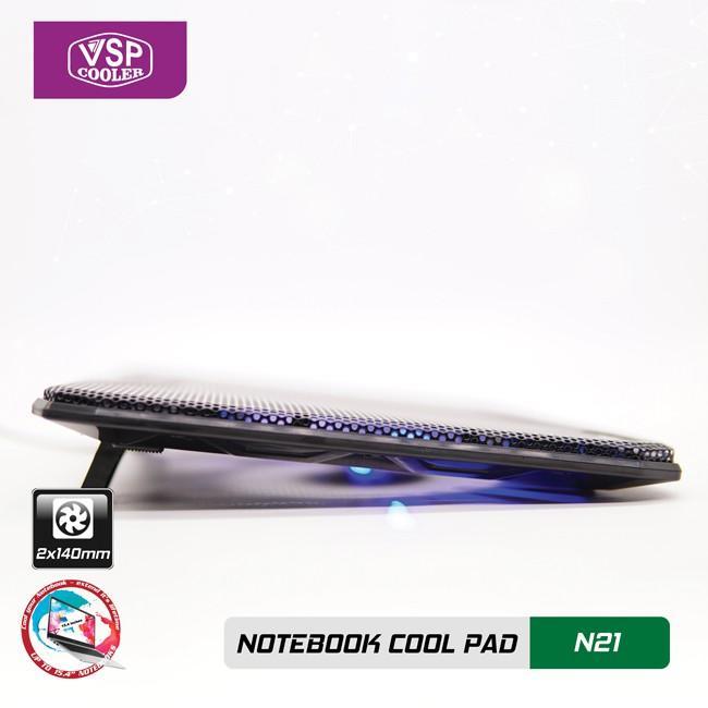 Đế Tản Nhiệt VSP Cooler N21 (2*Fan 14cm)