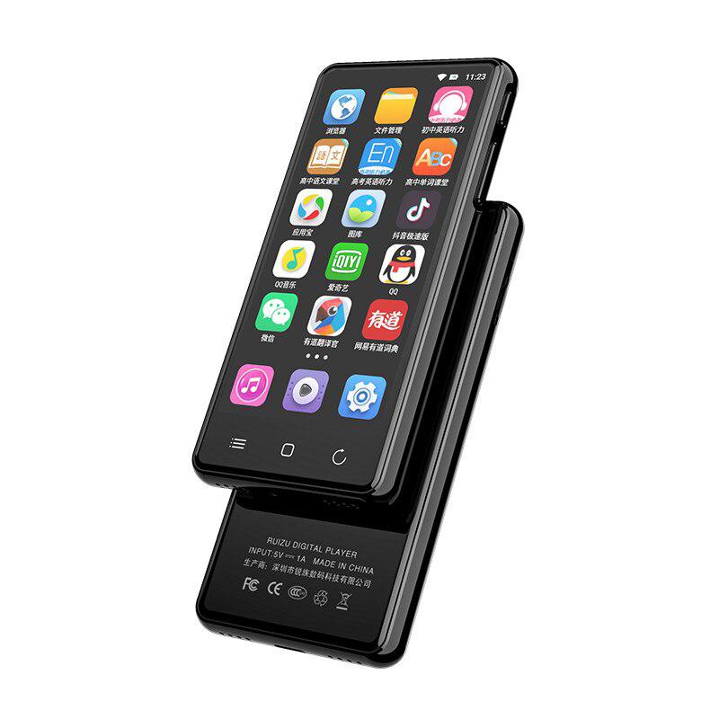 Máy Nghe Nhạc RUIZU H8 WIFI Android MP3 player Bluetooth 5.0 Touch Screen 4.0inch 16GB music mp3 player with Speaker,FM,E-book,Recorder,Video - Hàng Chính Hãng