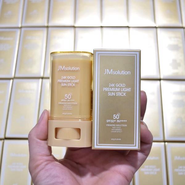 Kem chống nắng JM SOLUTION SPF50 Dạng sáp lăn(Chiết Xuất Vàng 24k Gold)