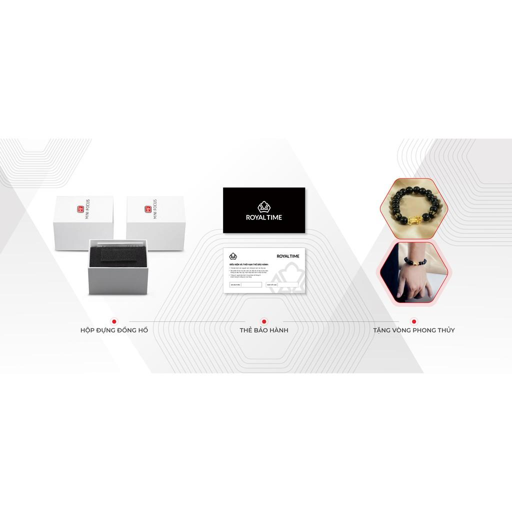 Đồng hồ Công Sở Thời Trang  Nam Mini Focus chính hãng MF0116G ( Phụ Kiện Thời Trang ) có video giới thiệu Chạy 6 Kim , Dây Da Cao Cấp Thanh Lịch , Trẻ Trung, Full Box
