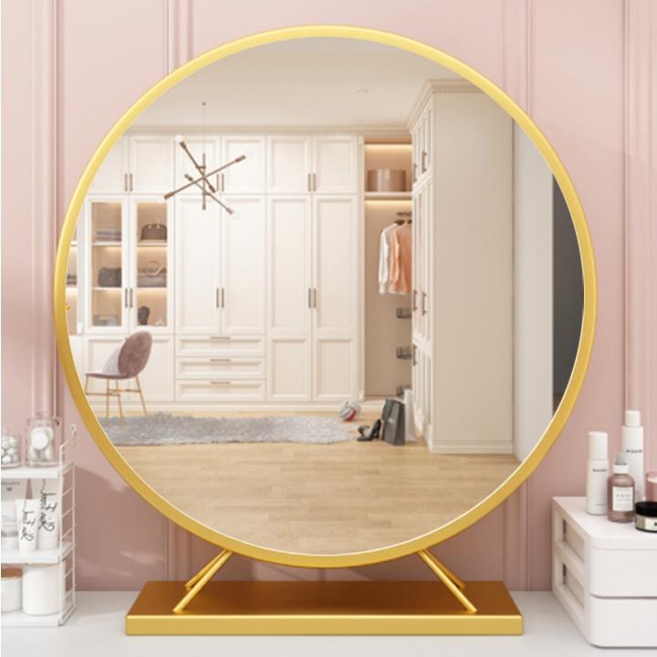 Gương trang điểm, gương để bàn hình tròn phong cách châu âu sang trọng