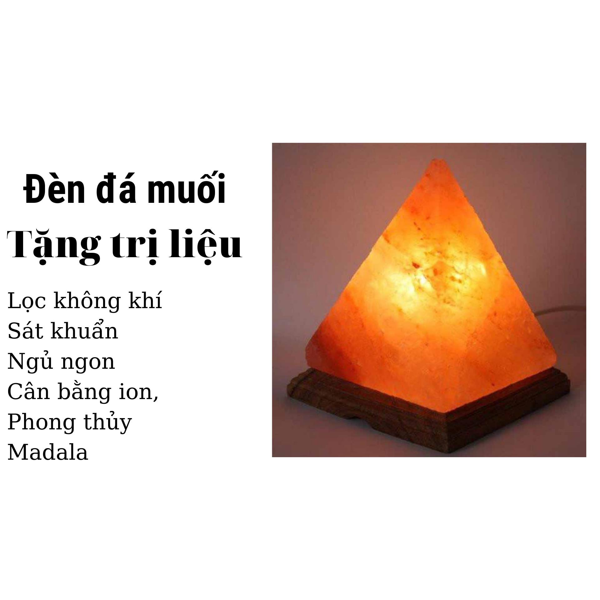 Đèn đá muối Kim Tự Tháp Himalaya tặng Trị liệu