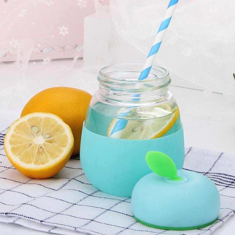 Bình Thủy Tinh Giữ Nhiệt, Ủ Sữa, Nước 320ML Mẫu Mới - Tặng 1 chong chóng ( màu ngẫu nhiên )