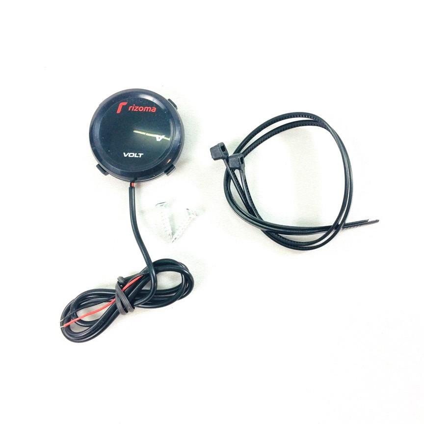 Đồng hồ Volt Rizoma kiểu tròn (đồng hồ chuyên đo điện bình dành cho mô tô, xe máy…)