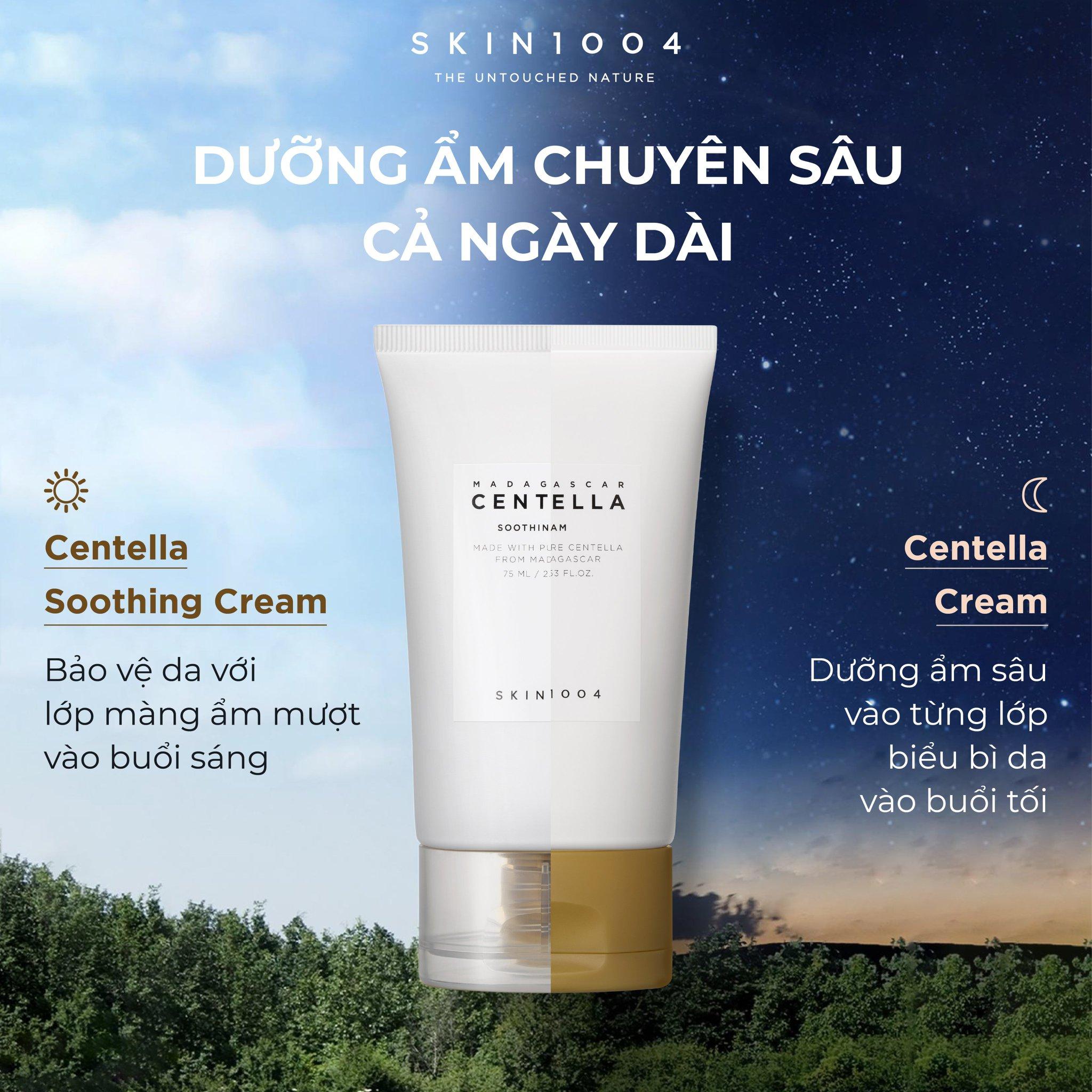 Kem Dưỡng Da Rau Má Dưỡng Ẩm Làm Dịu Da Cho Khô Skin1004 Madagascar Centella Soothing Cream 75ml