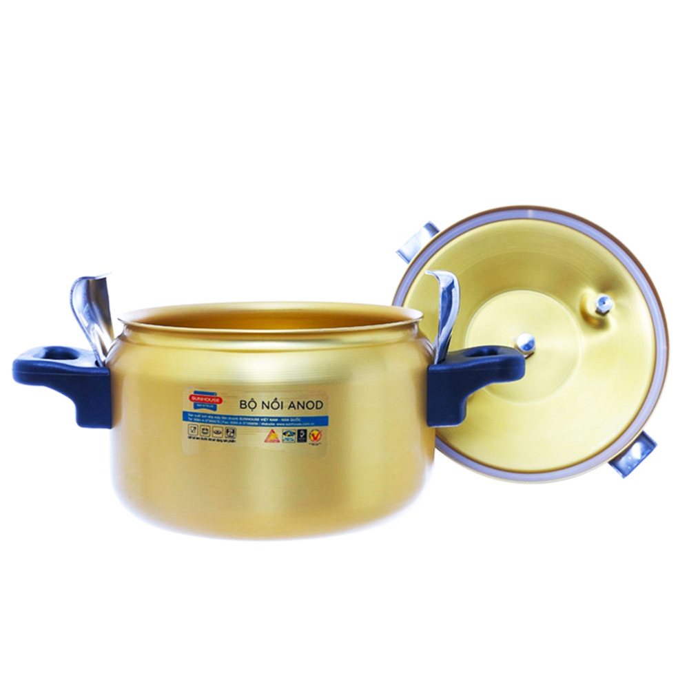 Nồi Áp Suất Anod Sunhouse SHA835 (3.5L) Màu Vàng