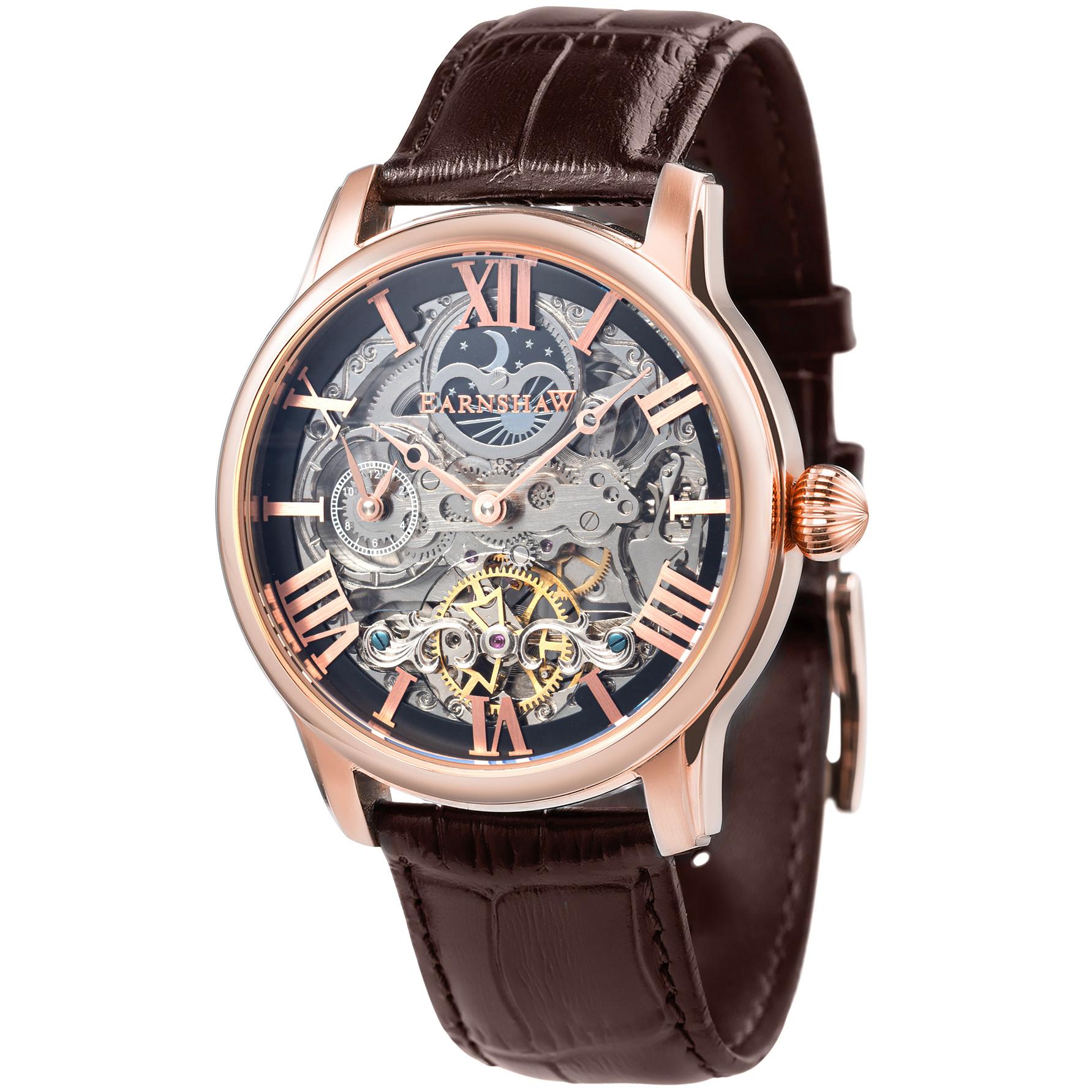Đồng hồ nam dây da chính hãng Thomas Earnshaw ES-8093-02