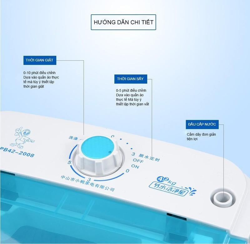 Máy giặt mini đa năng 1 lồng 4,5kg - Máy giặt mini cho sinh viên - Máy giặt - Máy giặt mini gia đình